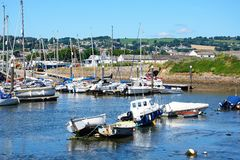 Boats in Axmouth harbour. Royalty Free Stock Photos