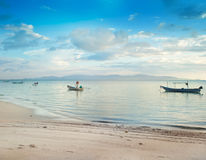 Boats on the background of beautiful seascape, Thailand, Phangan Stock Photos