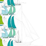 Boats background. Colorful boats background, regatta design Royalty Free Stock Image
