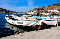 Boats in Balaclava Stock Photos