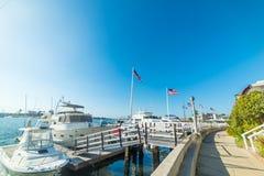 Boats in Balboa island. California Stock Photography