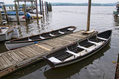 Boats on the Banks of the Potomac River in Alexandria in Virginia USA Royalty Free Stock Photography