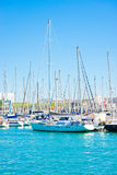 Boats in Barcelona port. Some boats in Barcelona port royalty free stock images