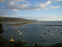 Boats at Barmouth Bay Harbour - Wales Royalty Free Stock Images