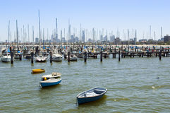 Boats in Bay Stock Image
