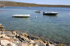 Boats in the bay Stock Photo