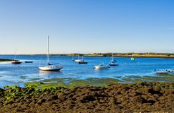 Boats on the Bay. Boats on Galway Bay in Ireland on a sunny day Royalty Free Stock Photos