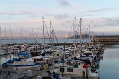 Boats in the Bay Area. Boats in the San Francisco Bay Area stock photography