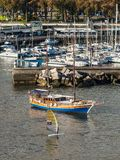 Boats in the bay of Funchal, Madeira Island, Portugal Royalty Free Stock Photo