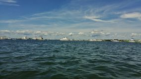 Boats on the Bay stock photography