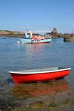 Boats in the bay Guernsey, Channel Islands Stock Photos
