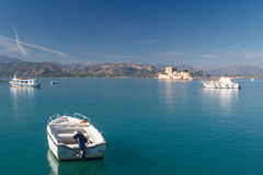 Boats in the bay of Nafplio Stock Photo