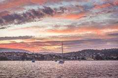 Boats in bay Stock Photography