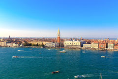 Boats in the bay of San Marco in Venice Royalty Free Stock Photography