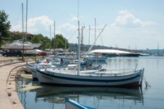 Boats in the bay of Sozopol Royalty Free Stock Photography