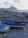 Boats on beach Stock Photography