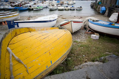 Boats on the Beach Stock Photography