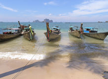 Boats on beach Royalty Free Stock Photos