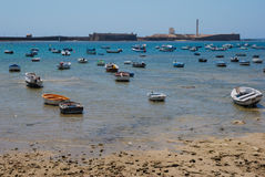 Boats  in a beach Royalty Free Stock Photography