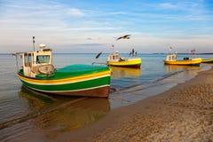 Boats at the beach Stock Photos