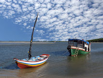 Boats in the beach. Boats of fish in the beach - Brazil Stock Photo