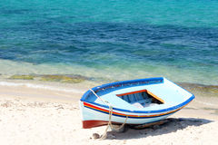 Boats on the beach. Hammamet Stock Photo