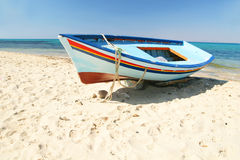 Boats on the beach. Hammamet Royalty Free Stock Photography