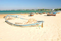 Boats on the beach Royalty Free Stock Photo