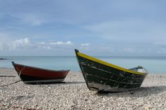 Boats on beach Royalty Free Stock Image