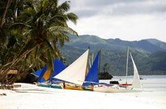 Boats at beach Royalty Free Stock Photo