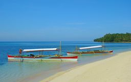 Boats on the beach. Boats on the island of Daco, Philippines Stock Image