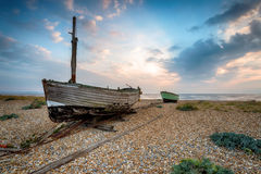 Boats on the Beach in Kent Royalty Free Stock Images