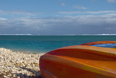 Boats on the beach. La Reunion Stock Photography