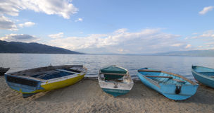 Boats on a beach Royalty Free Stock Image