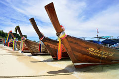 Boats on the Beach, Phuket Stock Images