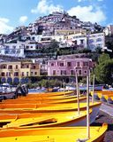 Boats on beach, Positano, Italy. Royalty Free Stock Photos