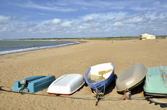 Boats on the beach of Sion sur l'Océan in France Stock Photo