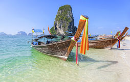 Boats on the beach in Thailand Royalty Free Stock Photos