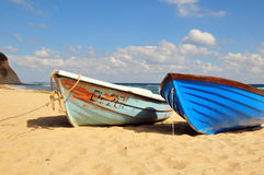 Boats on the beach Stock Photos