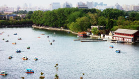 Boats in the Beihai park Royalty Free Stock Photo