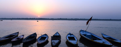 Boats Of Benaras Royalty Free Stock Image