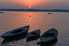 Boats Of Benaras Stock Photography