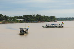 Boats on Beni river, Rurrenabaque, Bolivia Stock Image