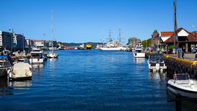 Boats in Bergen, Norway harbor Stock Image