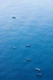 Boat in sea. Travel in boat Stock Photos