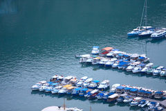 Boats in sea. Travel by boats Stock Photos