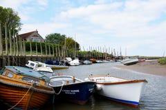Boats, Blakeney, Norfolk stock photo