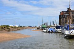 Boats at Blakeney, North Norfolk, England royalty free stock photos