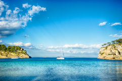 Boats and blue sea Royalty Free Stock Images