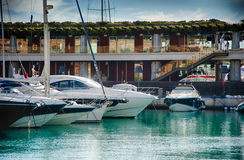 Boats and blue sea Royalty Free Stock Photography